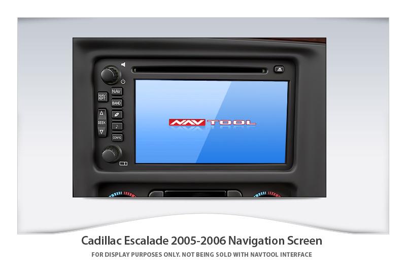 cadillac escalade 2005 2006 navigation video interface rh navtool com 2006 Cadillac Escalade Interior Cadillac Escalade 4x4
