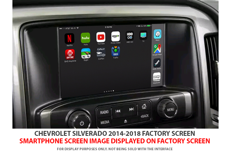 GMC SIERRA 2014-2018 VIDEO INTERFACE with BUILT-IN HD SMARTPHONE