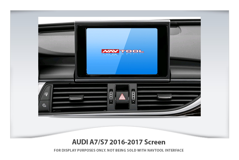 audi a7 s7 2016 2017 navigation video interface with built in hd smartphone mirroring via hdmi. Black Bedroom Furniture Sets. Home Design Ideas