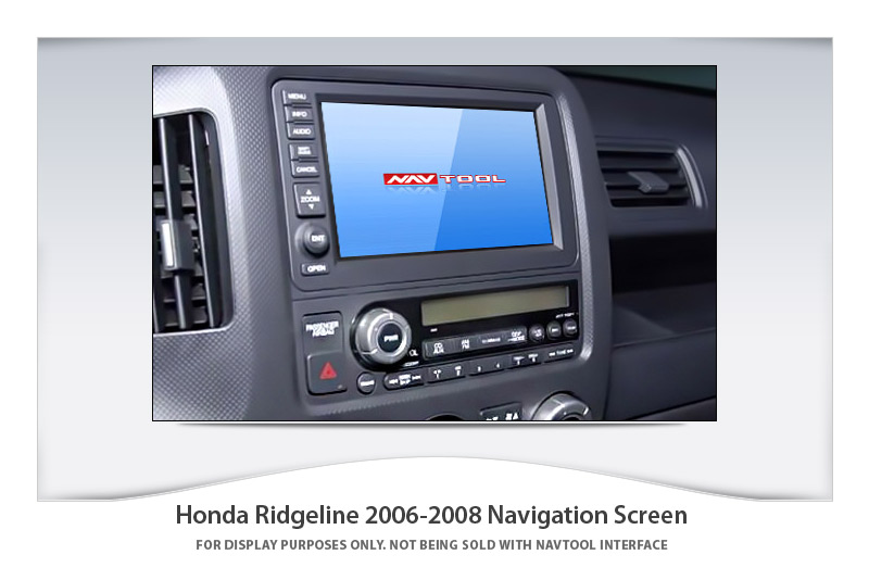 Honda Ridgeline 2006 2008 Navigation Video Interface